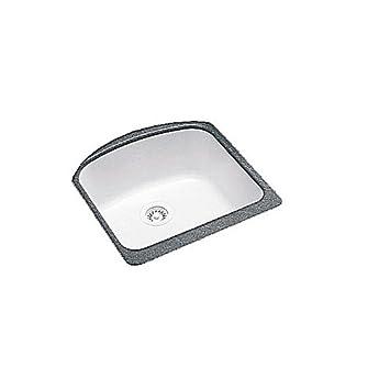 Swanstone 22,9 cm Tief groß singlebowl Unterbau Küche Spüle Weiß ...