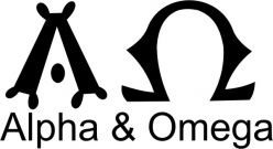 Amazon.com : Tattoo Stencil - Symbol for Alpha & Omega - #470 ...