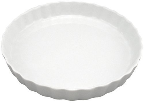 art Round Quiche, White (Ceramic Quiche Dish)