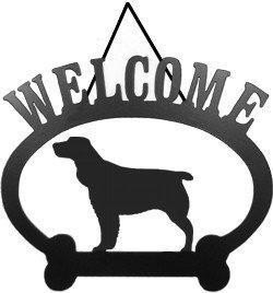 Springer Spaniel Welcome Sign