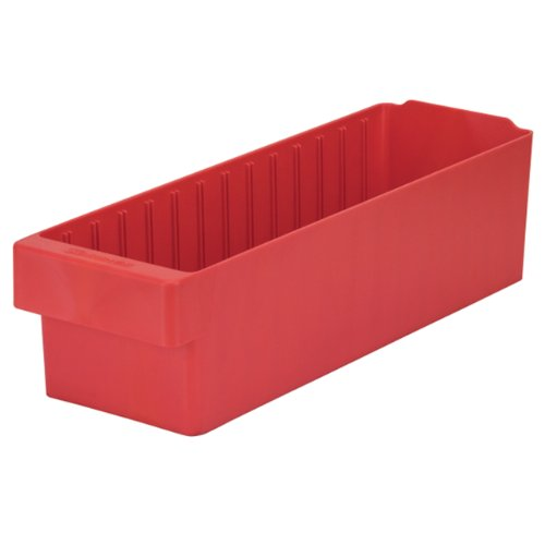 Akro-Mils 31168 AkroDrawer Plastic Storage Drawer, 17-5/8'' L x 5-9/16'' W x 4-5/8'' H, Red, Case of 6 by Akro-Mils