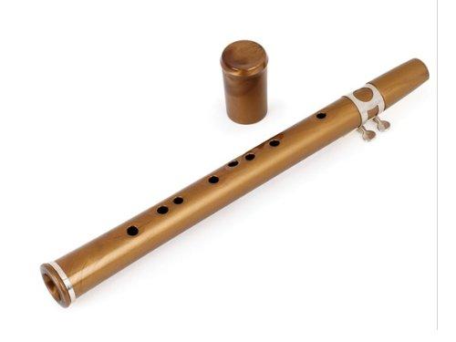 Maui Xaphoon ''The Pocket Sax'' Antique Gold 13'' L x 1 1/2'' Diam