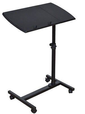 Adjustable Angle & Height Rolling Laptop Desk Table Stand Tray Over Bed - Premium Outlet Stores Phoenix