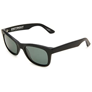 Electric Visual Detriot ES08201001 Square Sunglasses,Matte Black Frame/Grey Lens,One Size