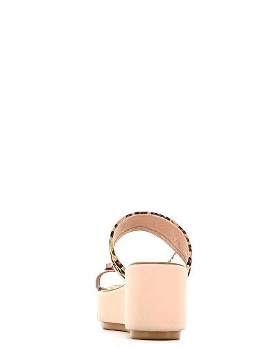 Inuovo Scarpe Donna Sandali in Pelle rosa e leopardato 5147-BLUSH LEA wvVF53Q