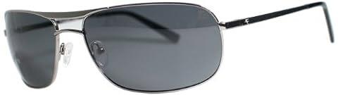 Fatheadz Eyewear Men's The Law V2.0 FH-V144-SM Polarized Aviator Sunglasses, Gunmetal, 66 mm - 2.0 Rx Eyewear