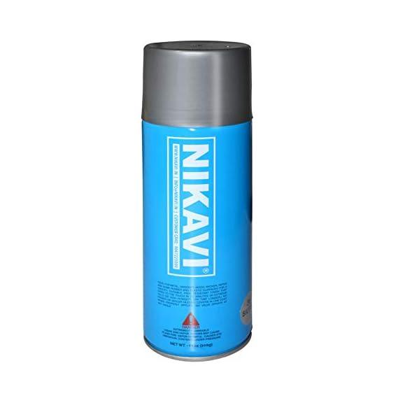 NIKAVI Aerosol Spray Paint Cans (400 ML, Silver)
