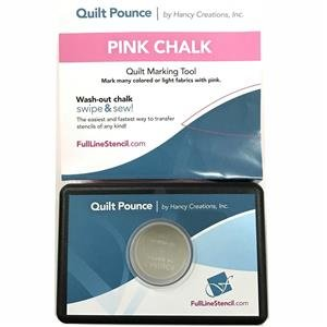 Quilt Pounce Pad With Wash-Out Pink Chalk Powder - 1111 Super Metal