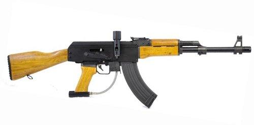 Konkor MK47 1 .68 AK-47 Paintball Rifle Marker 17'' Long Barrel Wood Forearm Stock by Konkor