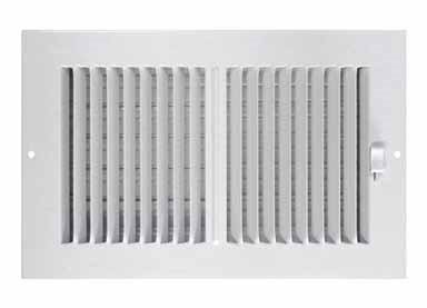 Truaire CA102M  10X06(Duct Opening Measurements) 2-Way Aluminum Supply 10-Inch by 6-Inch Sidewall or Ceiling Aluminum Register Grille, White