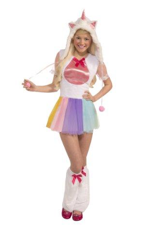 [Forum Novelties Women's Teen Plush Unicorn Costume, Multi Colored, One Size] (Halloween Costumes For Girl Teenagers)