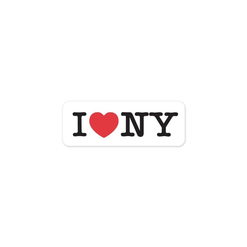 I LOVE NY heart New York bumper sticker decal 6 x 2