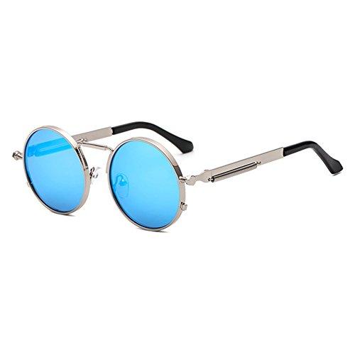 hibote rétro petit rond lunettes de soleil hommes mâle Vintage Steampunk Sunglass C9 oj7fFQj65