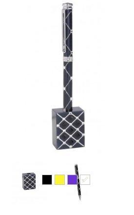 Jimmy Crystal New York Zyana Swarovski Crystal Pen & Stand Set (White)