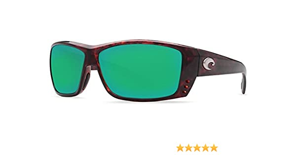 878187419c8 Amazon.com  Costa Del Mar Cat Cay 580G Polarized Sunglasses in Tortoise    Green Mirror Lens  Clothing