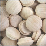 WIDGETCO 1/2'' Maple Button Top Wood Plugs(QTY 5,000)