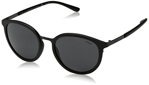 Polo Ralph Lauren Men's Metal Man Round Sunglasses, Black, 50 - Eyewear Lauren Ralph