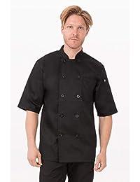 Chef Works Men's Chambery Chef Coat (BLSS)