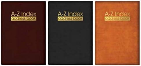 Chef-Adressbuch mit Alphabet-Register, gepolstert mit Ledereinband in verschiedenen Farben und Größen von The Home Fusion Company, burgunderfarben, Tasche