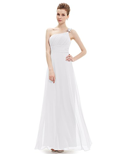 HE09596WH18, White, 16US, Ever Pretty Graduation Dresses For Teenagers 09596