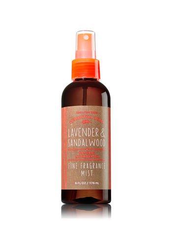 Bath & Body Works Essentials Oil - LAVENDER & SANDALWOOD - Fine Fragrance Mist 6 oz (Mist Oil Bath)