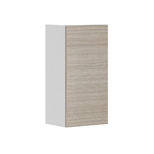 Kitchen Cabinet Silver Pine Textured Slab Style 15×30 Wall Cabinet