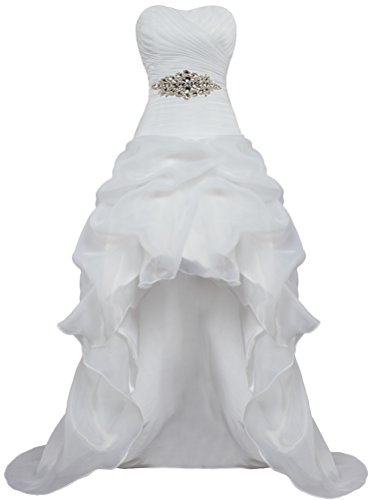 Low ANTS White Bridal High Wedding Casual Organza B Dresses Gown Women's q6r6TI