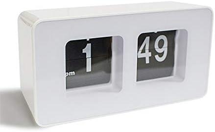 funwill Auto Flip Clock Digital Fliping Down Page Alarm Clocks for Home Office Desk,White Black
