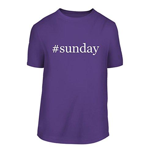 #Sunday - A Hashtag Nice Men's Short Sleeve T-Shirt Shirt, Purple, Large