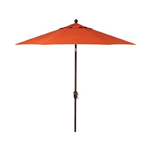 9-Foot Treasure Garden (Model 920) Push Button-Tilt Market Umbrella with Bronze Frame and Obravia2 Fabric:  Sunset
