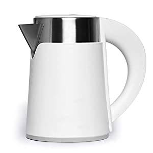 QUEDOZ Stainless Steel 1100 Watt Detachable Jug Electric Kettle For Tea/Coffee/Water/Noodles (Matte White) (0.7ltr…