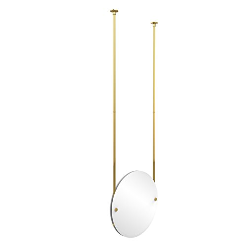 Allied Brass CH-90-PB  Round Ceiling Hung Mirror, Polished Brass by Allied Brass