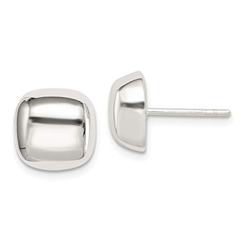 925 Sterling Silver Square Post Stud Ball Button Earrings Fine Jewelry For Women Gift Set ()