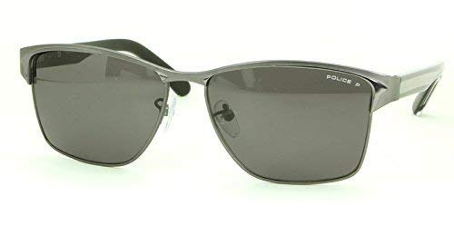 POLICE Hombre Ala Delta 2 Gris Gafas de sol metálicas s8851m-627p lente polarizada modelo