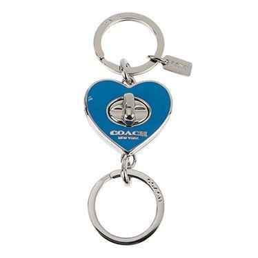 f8e4e7e90520 (コーチ)COACH 公認アウトレット キーリング ENAMEL TURNLOCK HEART VALET KEY RING F65502/SV