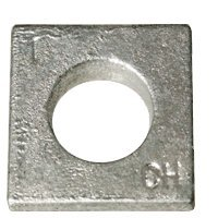 3/8'' Square Beveled Malleable Iron Washer Hot Dip Galvanized (HDG) (Quantity: 600 pcs) - Inside Diameter: 3/8'' inches