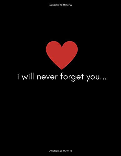 Never going to forget you