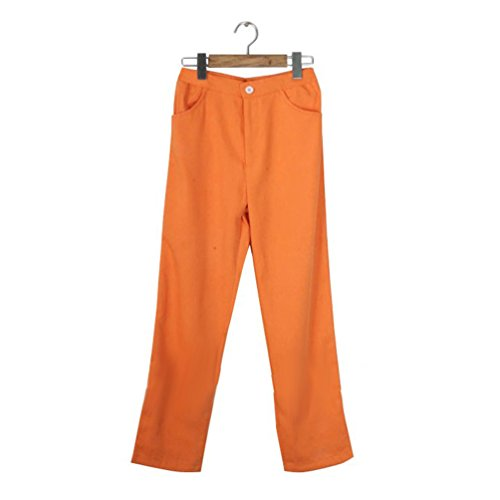 Flovex Anime Cosplay Costume Orange Long Pants Unisex Party Show Trousers (Pants L size) (Buy Cosplay Weapons)