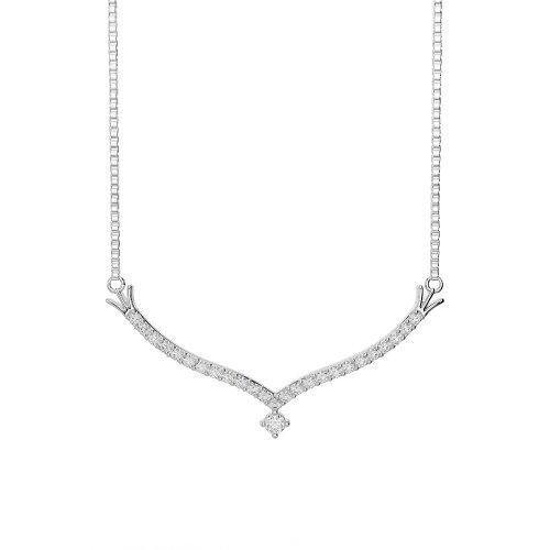 Or blanc/or jaune/Platine Diamant Collier avec chaîne ims-1755-vsgh