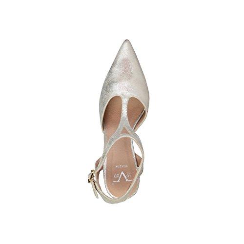 V 1969 - APOLLINE_SABBIA Donna Sandali Della Caviglia Cinghia Tacco:10.5 cm