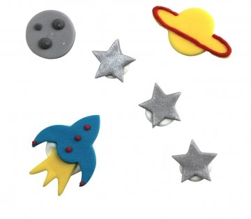 outer space cake decorations - 3