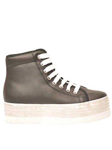 JC PLAY BY JEFFREY CAMPBELL HOMG LEATHER BLACK/WHITE