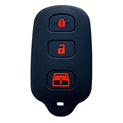 Rpkey Silicone Keyless Entry Remote Control Key Fob Cover Case protector For 1999-2009 Toyota 4Runner 2001-2008 Toyota Sequoia HYQ12BBX HYQ12BAN HYQ1512Y: Automotive