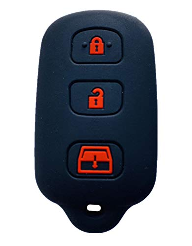 (Rpkey Silicone Keyless Entry Remote Control Key Fob Cover Case protector For 1999-2009 Toyota 4Runner 2001-2008 Toyota Sequoia HYQ12BBX HYQ12BAN HYQ1512Y)