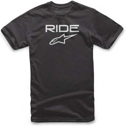 Short Sleeve Shorts Ride (Alpinestars Men's Logo t-Shirt Modern fit Short Sleeves, Ride. el Black/White, L)
