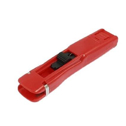 eDealMax acolchar de costura plástico Rojo Zip herramienta pistola dispensadora Clip