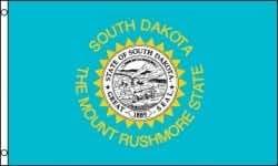 Dakota del Sur Estado grande 3x 5pies FLAG Bandera.. Estados Unidos gran calidad... Nuevo
