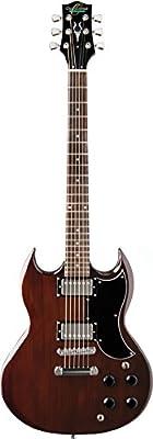 Oscar Schmidt 6 String SG Style Double Cutaway Electric Guitar. Walnut (OS-50-WA-A)