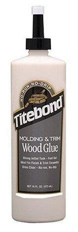 12 Pack Franklin 2404 Titebond No-Run, No-Drip Wood Glue for Molding & Trim - 16-oz Bottle
