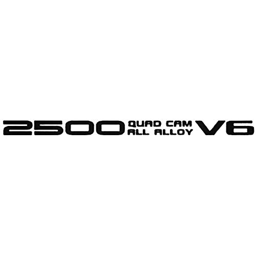 YWS Vinyl Stickers Decal - 2500 Quad Cam - Sticker Laptop Car Truck Window Bumper Notebook Vinyl Decal